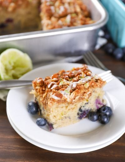 Gluten Free Blueberry Lime Coffee Cake
