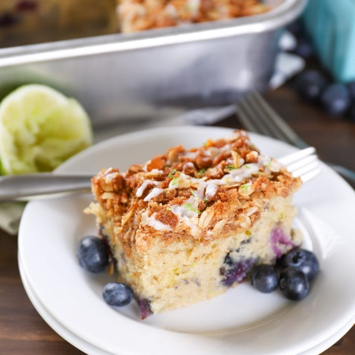 Gluten Free Blueberry Lime Coffee Cake Recipe