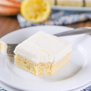 Easy Frosted Lemon Sour Cream Cookie Bars Recipe