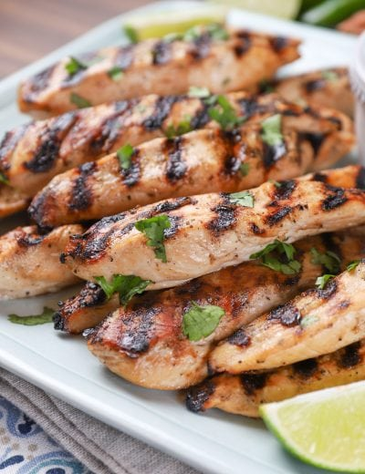 Grilled Pineapple Chicken Strips Recipe
