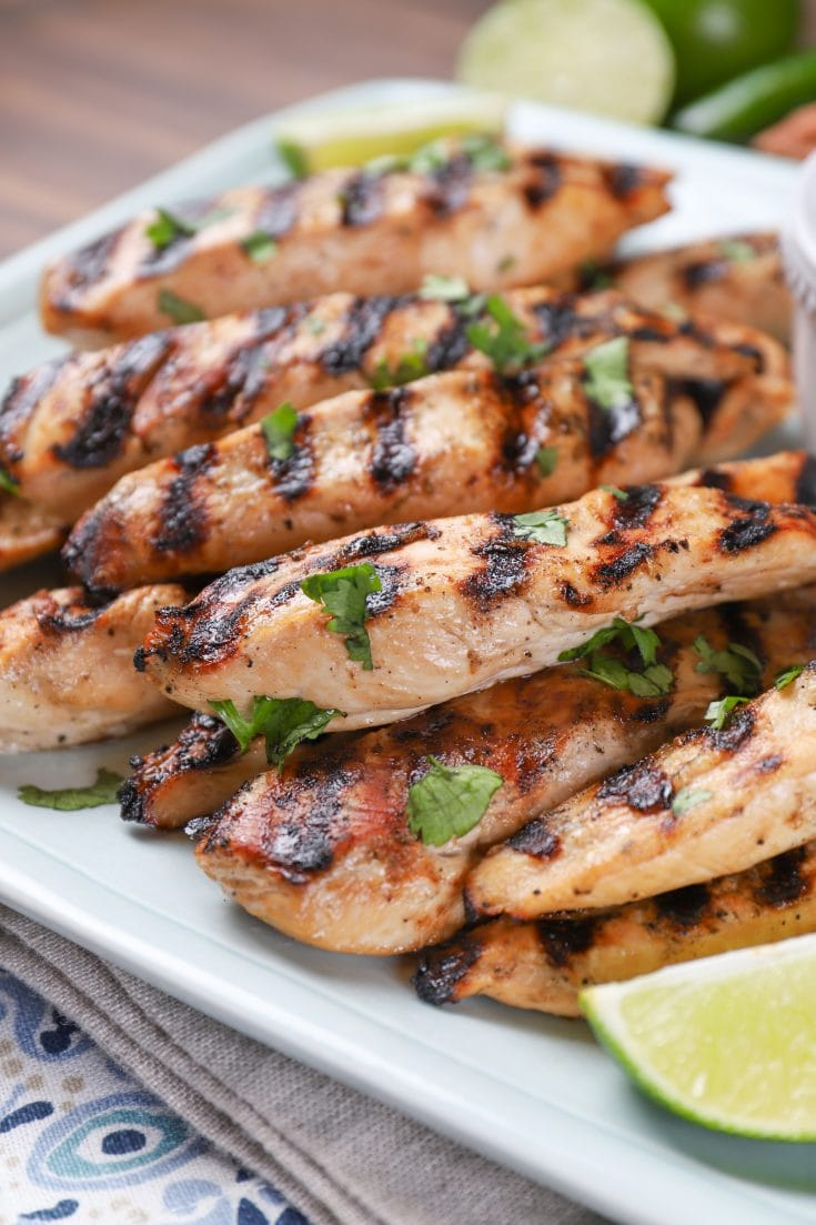 Grilled Pineapple Chicken Strips With Creamy Lime Dipping Sauce Two Ways A Kitchen Addiction
