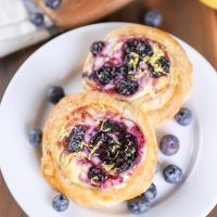 Blueberry Cream Cheese Danishes