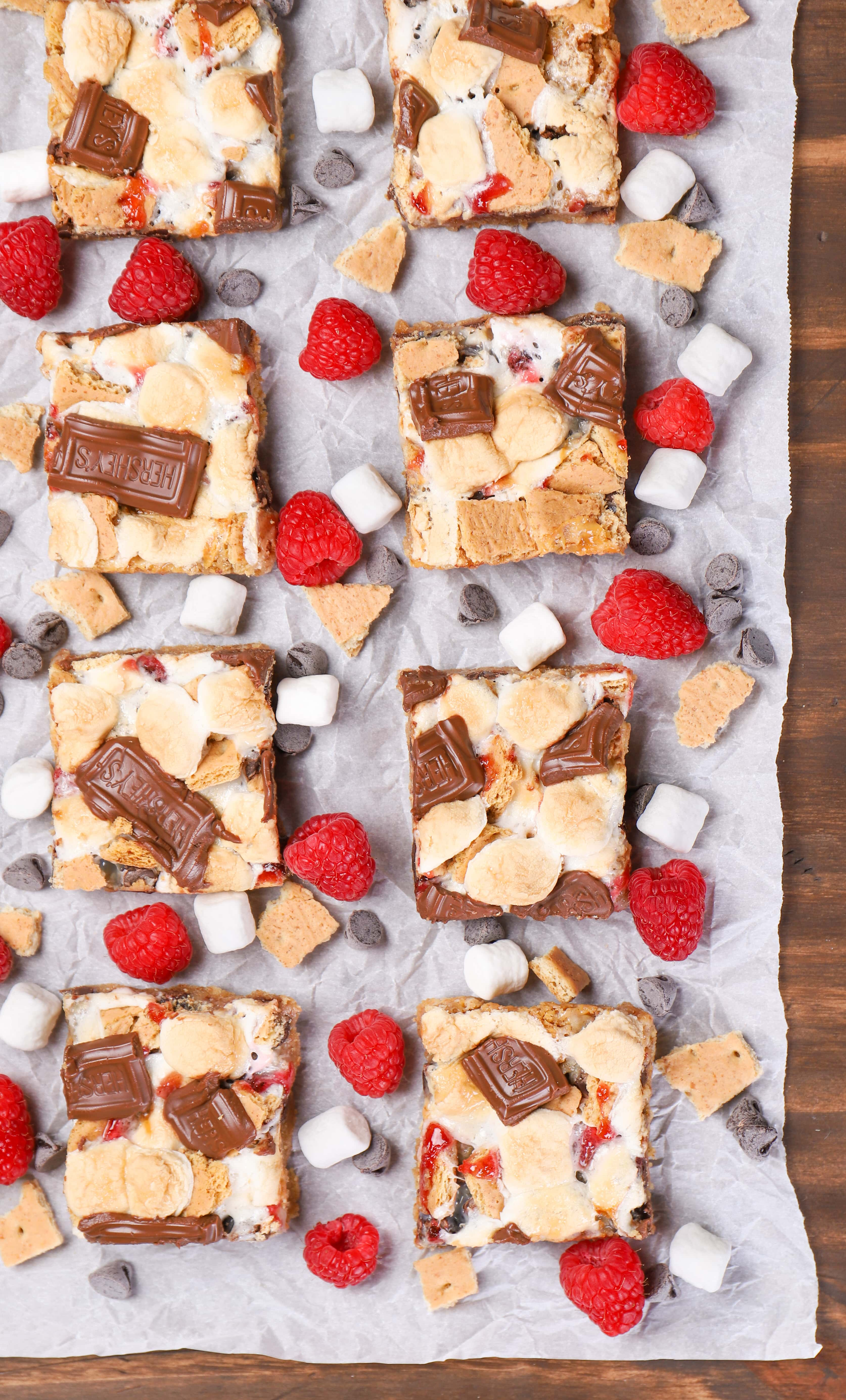 Raspberry Smores Seven Layer Bars Recipe
