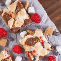Raspberry S'mores Seven Layer Bars