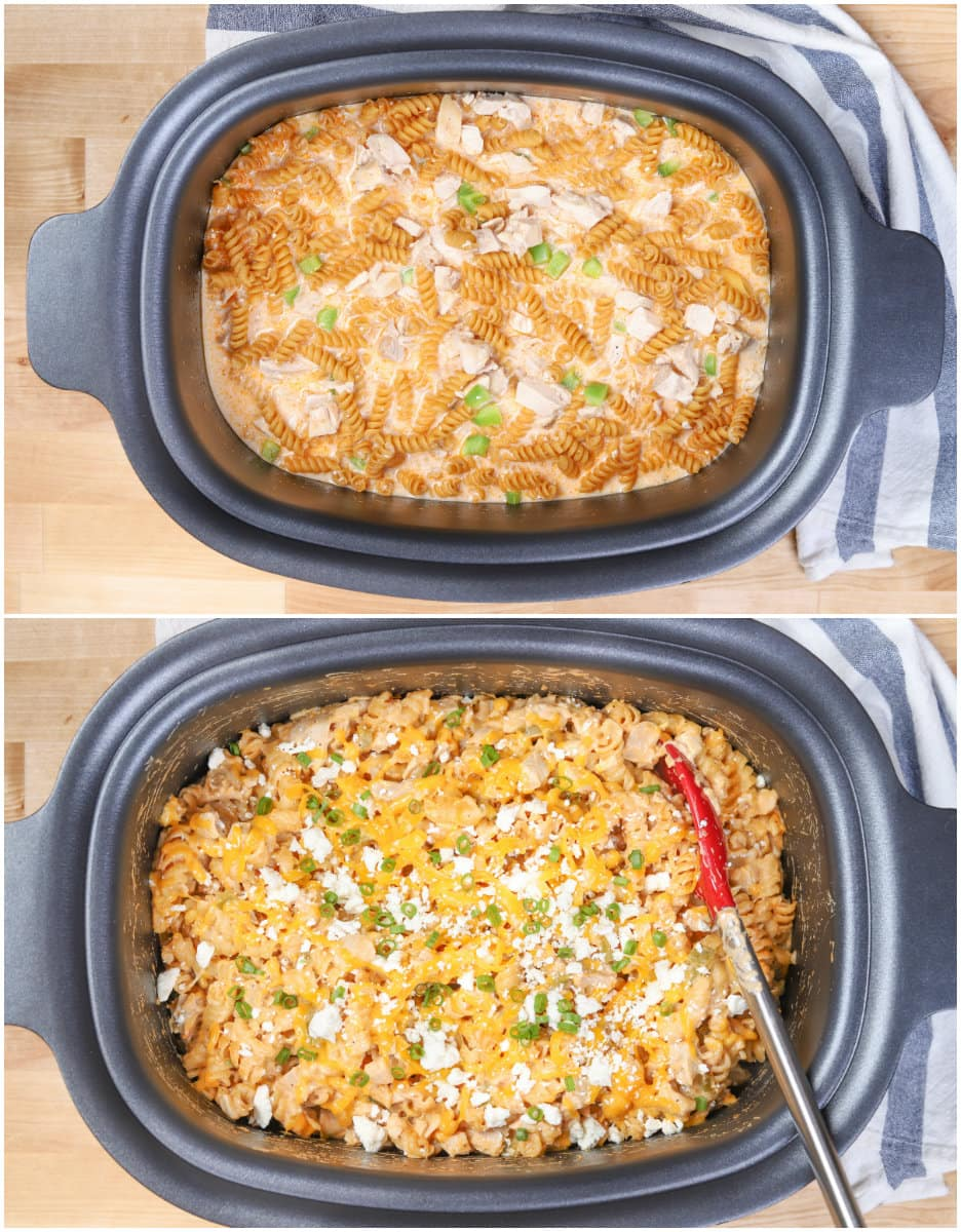 Buffalo Chicken Pasta Process Collage