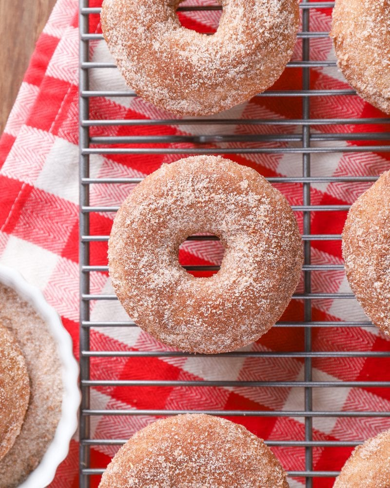 Baked Apple Cider Donuts with Cardamom Sugar Recipe from A Kitchen Addiction