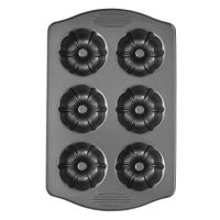 Wilton Excelle Elite Mini Fluted Tube Cake Pan, 6-Cavity