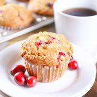 Bakery Style Cranberry Orange Muffins