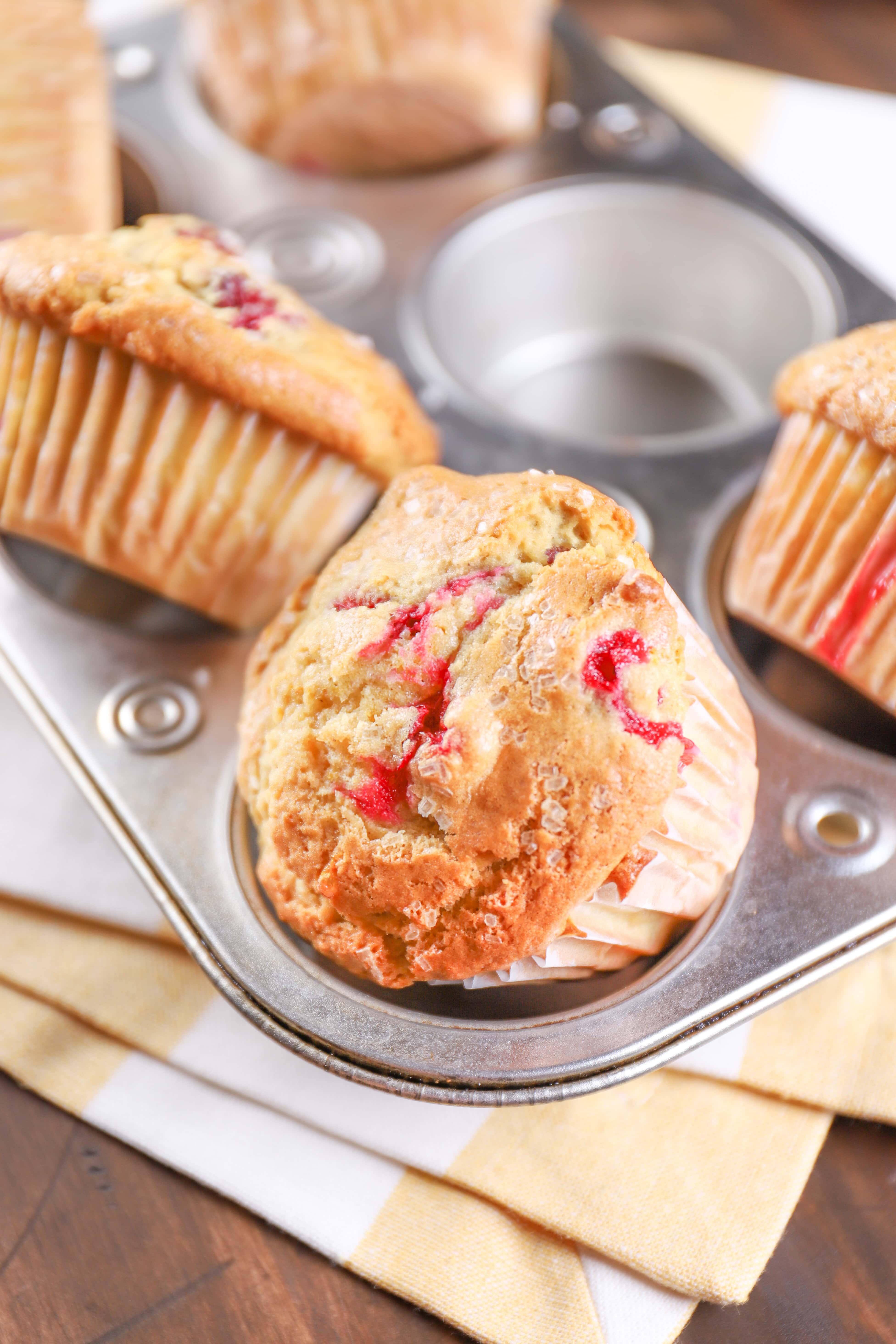 Bakery Style Cranberry Orange Muffins in Muffin Tin
