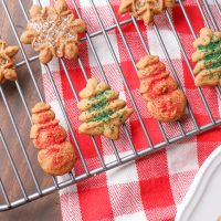 Gingerbread Spritz Cookies