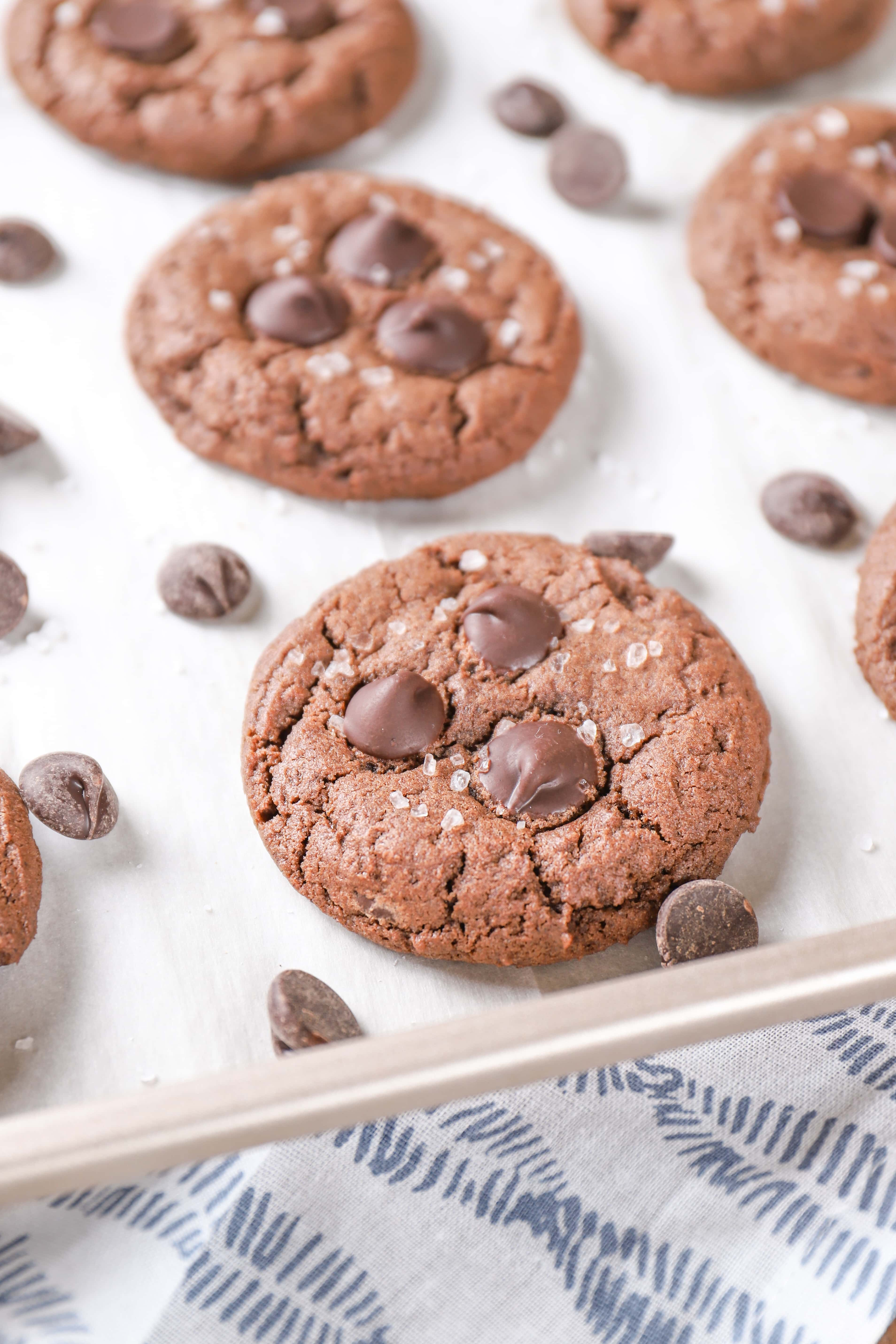 Salted Dark Chocolate Cookies Recipe