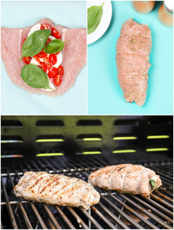 Steps for Making Grilled Stuffed Turkey Tenderloin