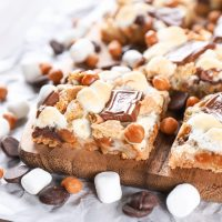 Caramel S'mores Seven Layer Bars