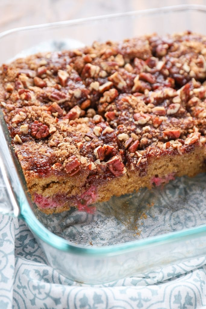 Raspberry Pecan Breakfast Cake