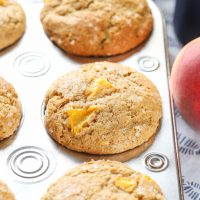 Bakery Style Peach Cardamom Muffins