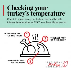 Check Turkey Temperature Info Graphic