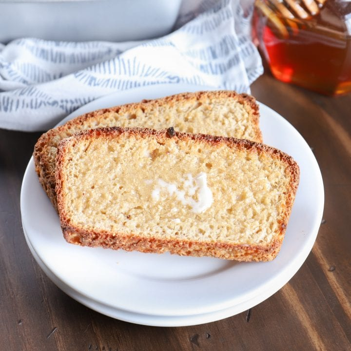 Toasted and Buttered Sourdough English Muffin Bread