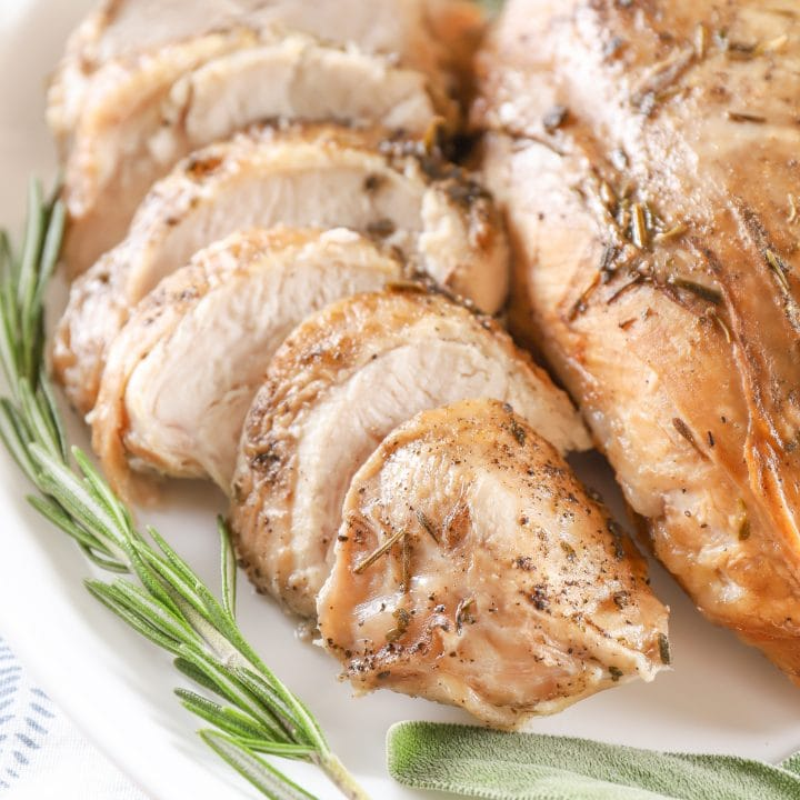 Slow Cooker Spiced Apple Cider Brined Turkey Breast
