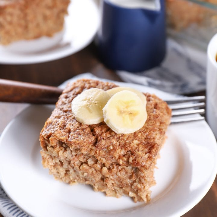 Almond Butter Banana Bread Baked Oatmeal