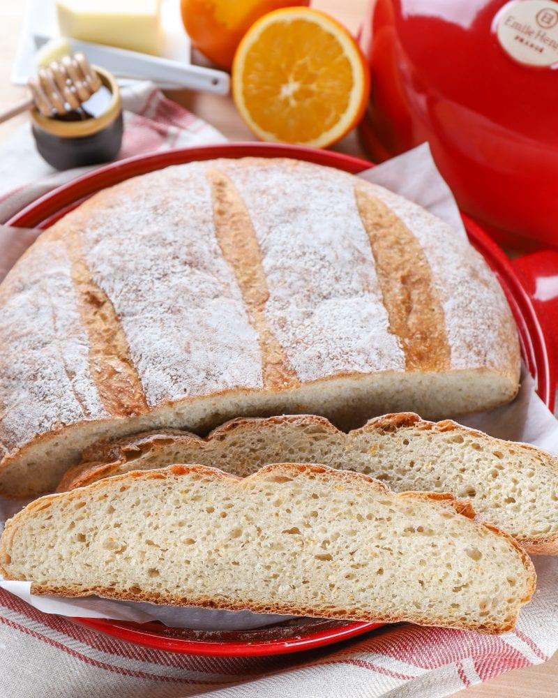 Slices of Rustic Orange Cardamom Bread