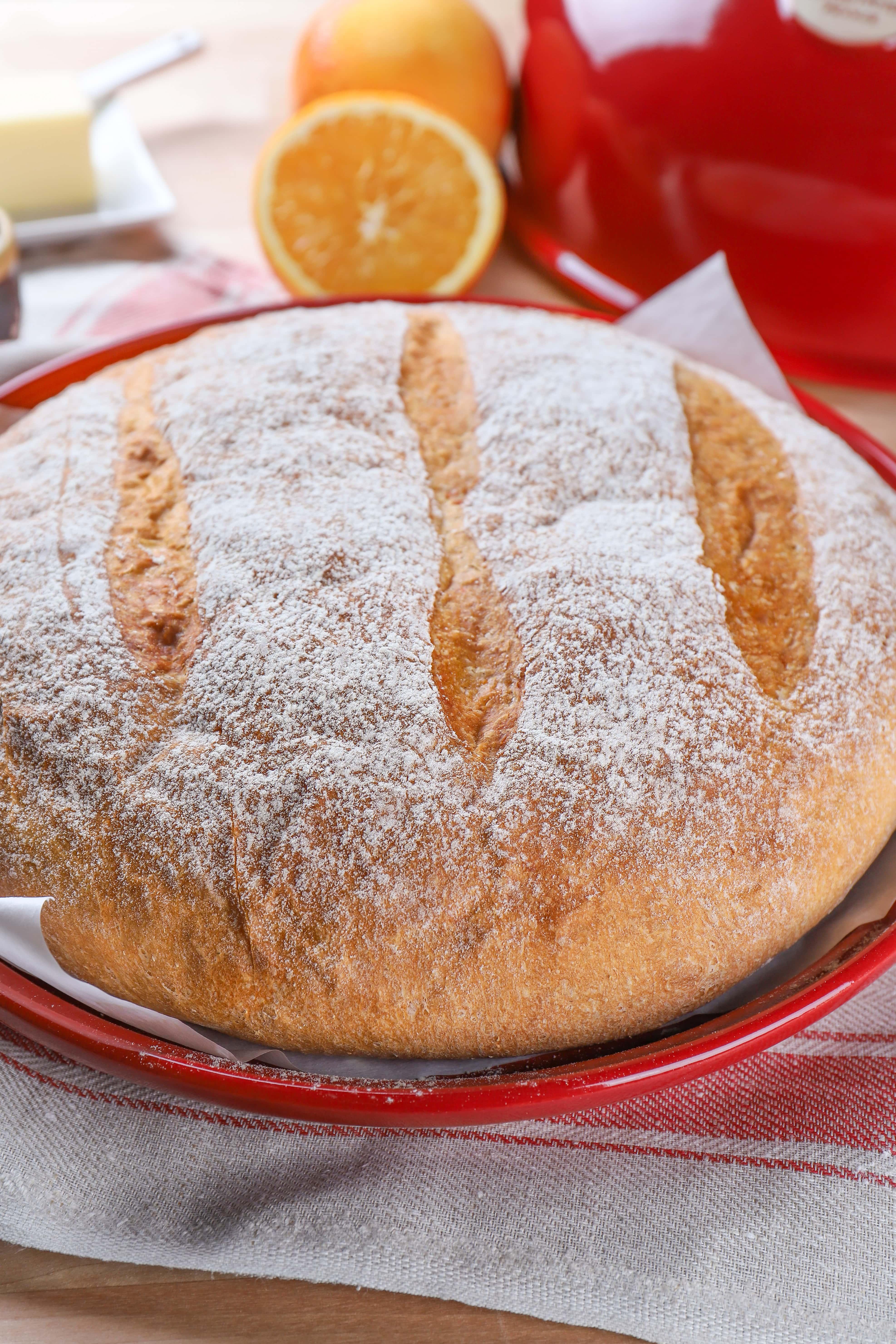 Loaf of artisan orange cardamom bread